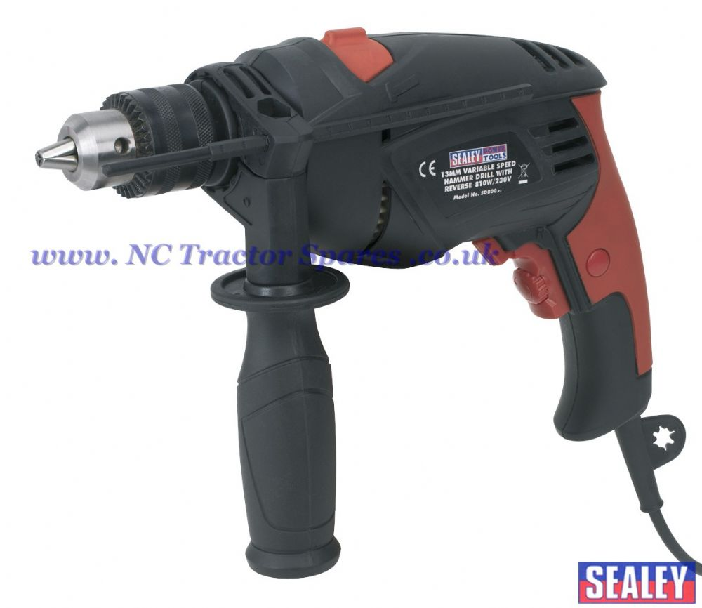 Hammer Drill 13mm Variable Speed with Reverse 810W/230V